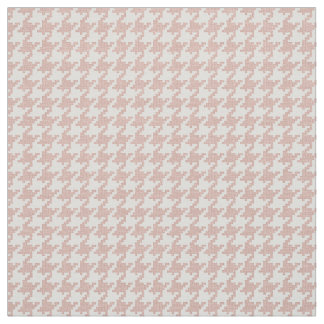 Pink and White Houndstooth Geometric Pattern Fabric