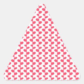 Pink and White Leaf Pattern Sticker