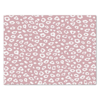 """Pink and White Leopard Print 15"""" X 20"""" Tissue Paper"""