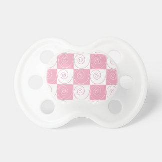 Pink and White Mouse Tails Pacifier