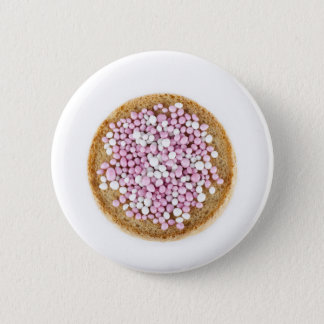Pink and White Muisjes Button
