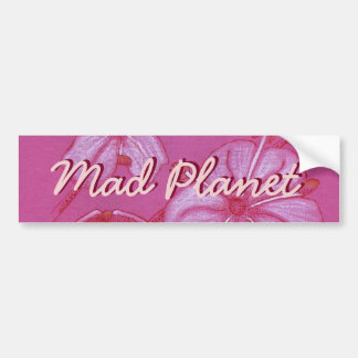 Pink and White Painted Flower Study Bumper Sticker