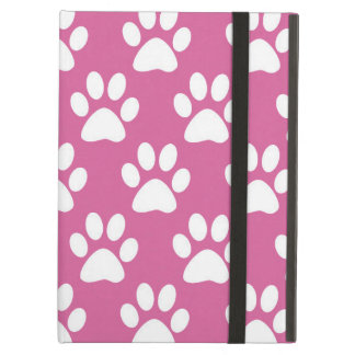 Pink and white paw prints pattern case for iPad air