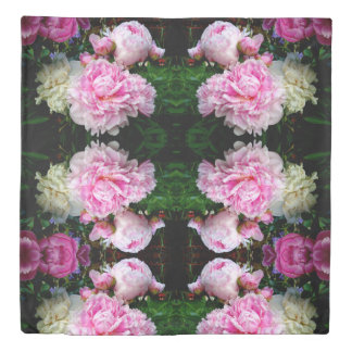 Pink and White Peonies Duvet Cover