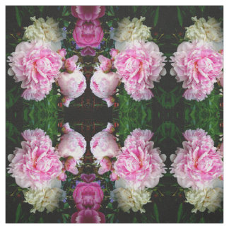 Pink and White Peonies Fabric