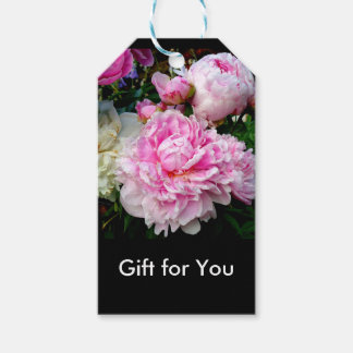 Pink and White Peonies Gift Tags