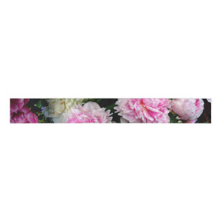 Pink and White Peonies Grosgrain Ribbon