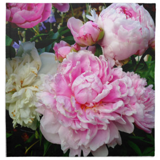 Pink and White Peonies Napkin