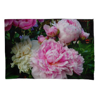 Pink and White Peonies Pillowcase