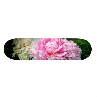 Pink and White Peonies Skate Board Deck