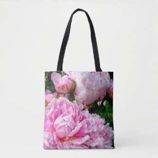 Pink and White Peonies Tote Bag