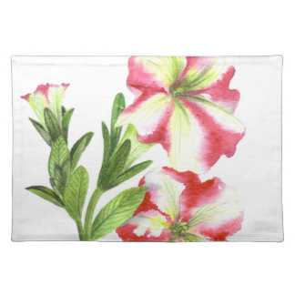 Pink and White Petunias Floral Art Placemat