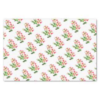 Pink and White Petunias Floral Art Tissue Paper