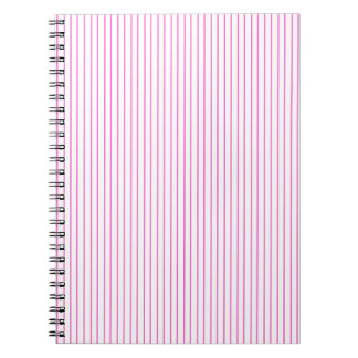 Pink and White Pinstripe Notebook