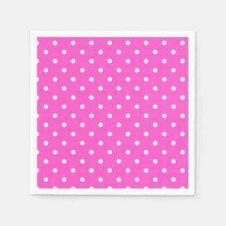 Pink and white polka dot glamour modern disposable napkin