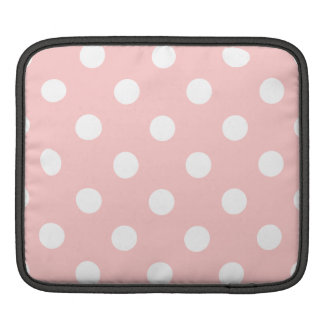 Pink and White Polka Dot Pattern iPad Sleeves