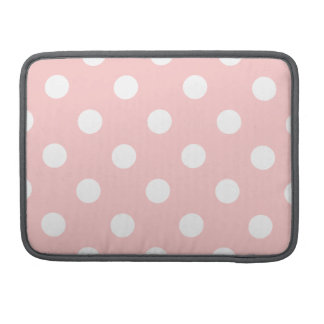 Pink and White Polka Dot Pattern Sleeve For MacBook Pro