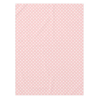 Pink and White Polka Dot Pattern Tablecloth