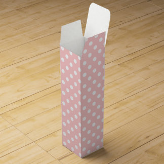 Pink and White Polka Dot Pattern Wine Boxes