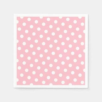 Pink and White Polka Dots Disposable Napkin