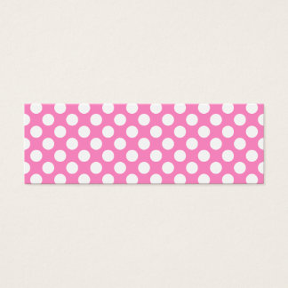 Pink and White Polka Dots Mini Business Card