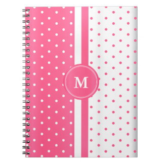 Pink and White Polka Dots Notebook