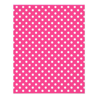 Pink and White Polka Dots Pattern Flyer