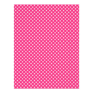 Pink and White Polka Dots Pattern Letterhead Design
