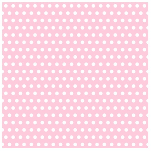 Pink and White Polka Dots Pattern. Acrylic Cut Out
