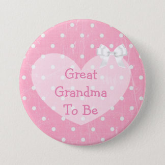 Pink and White Polka Dotted Mom To Be Button