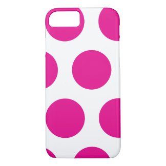 Pink and White Polkadot iPhone 7 Case