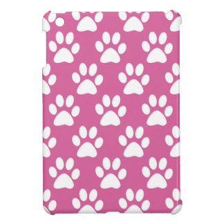 Pink and white puppy paws pattern case for the iPad mini