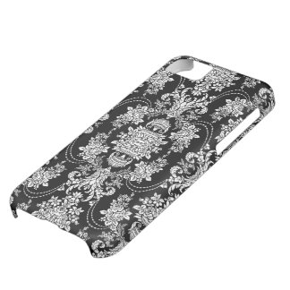 Pink And White Retro Floral Baroque Ornate Design Cover For iPhone 5C