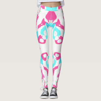 Pink and White Retro Leggings