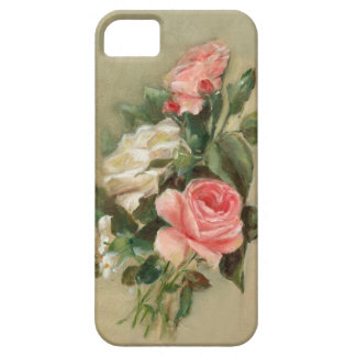Pink and white Rose Bouquet iPhone 5 Covers