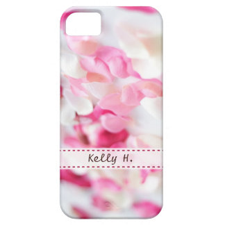 Pink and White Rose Petals iPhone 5 Cases