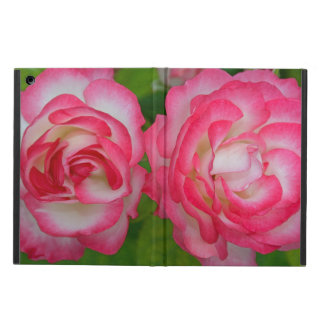 Pink and white roses floral print iPad air cases