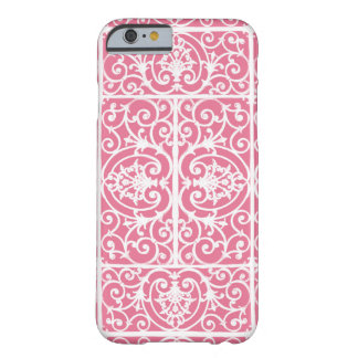 Pink and white scrollwork barely there iPhone 6 case