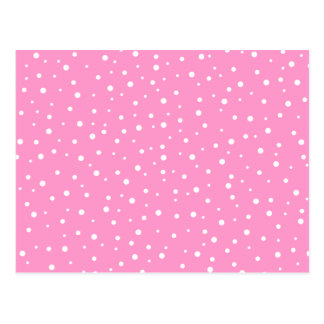 Pink and White Spotted Pattern. Postcard