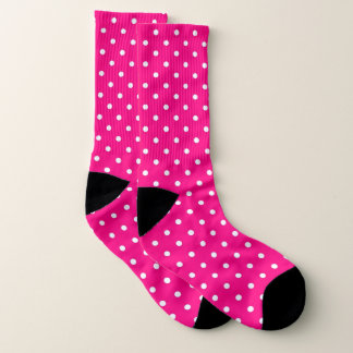 Pink and white spotty socks