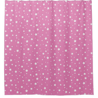 Pink and White Stars Celestial Sky