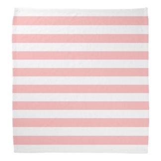 Pink and White Stripe Pattern Bandanas