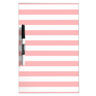 Pink and White Stripe Pattern Dry Erase Whiteboards