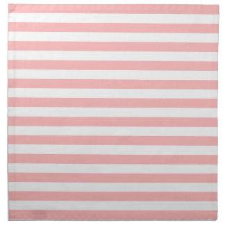 Pink and White Stripe Pattern Napkin
