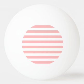 Pink and White Stripe Pattern Ping Pong Ball