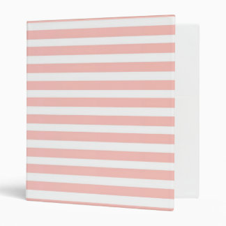 pink and white stripes binders