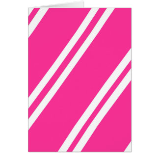 Pink and White Stripes Card