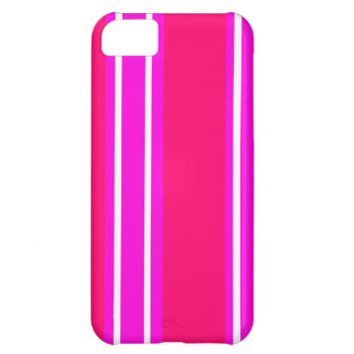 Pink and white stripes iPhone 5C case