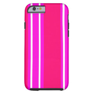 Pink and white stripes iPhone 6 case