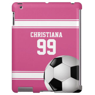 Pink and White Stripes Jersey Soccer Ball